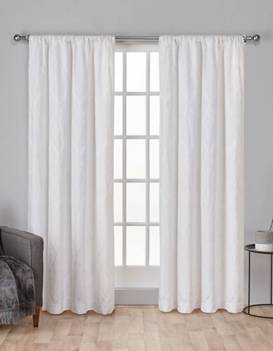 Home Outfitters Elena Rod Pocket Curtain Panel-WINTER WHITE-108 inches