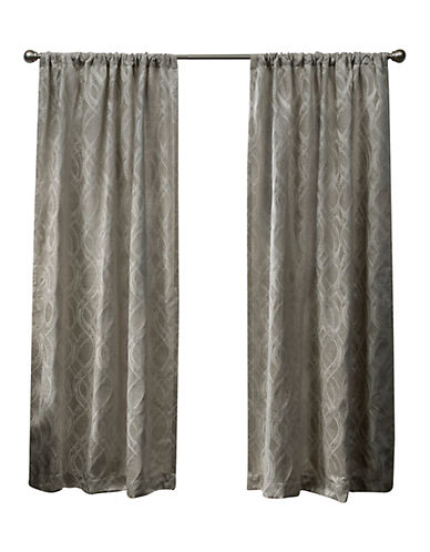 Home Outfitters Elena Rod Pocket Curtain Panel-TAUPE-96 inches