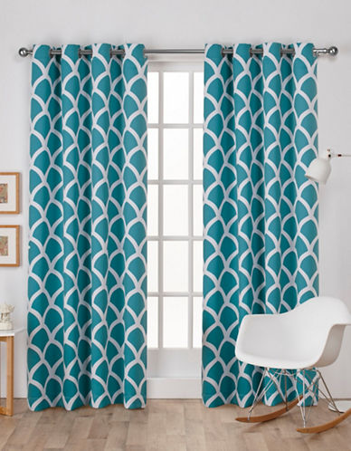 Home Outfitters Durango Window Curtain Panel-TEAL-84 inches
