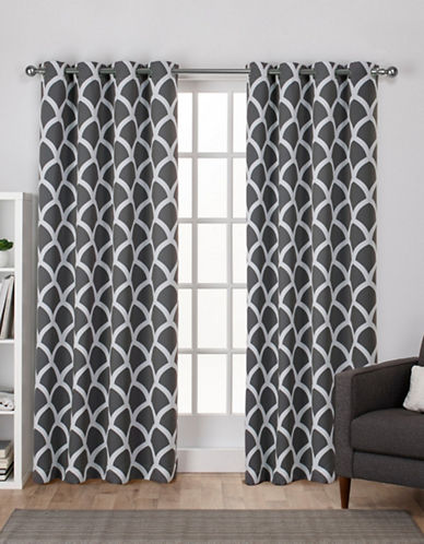Home Outfitters Durango Window Curtain Panel-BLACK PEARL-108 inches