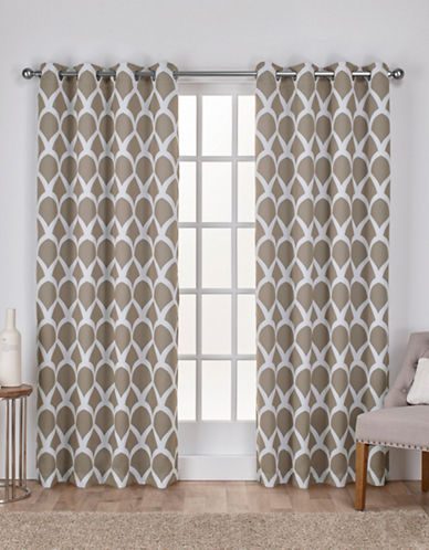 Home Outfitters Durango Window Curtain Panel-TAUPE-96 inches
