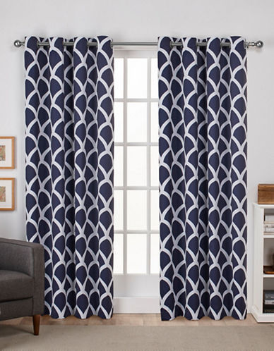 Home Outfitters Durango Window Curtain Panel-PEACOAT BLUE-84 inches