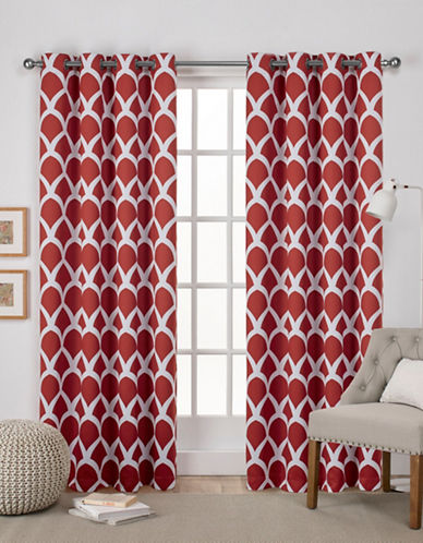 Home Outfitters Durango Window Curtain Panel-MECCA ORANGE-84 inches