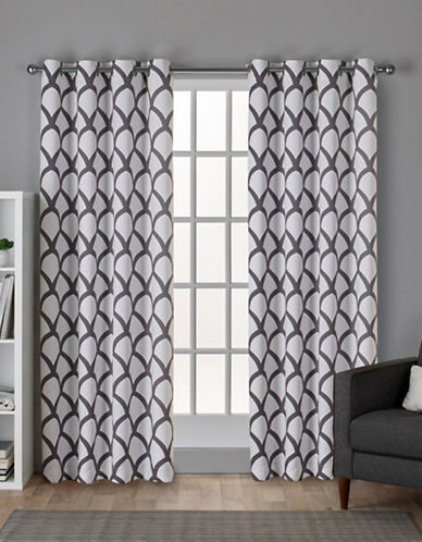 Home Outfitters Durango Window Curtain Panel-WINTER WHITE-84 inches