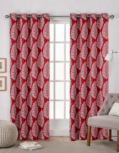 Home Outfitters Queensland Woven Printed Curtain Panel-MECCA ORANGE-108 inches