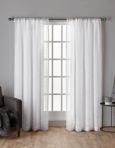 Home Outfitters Spirit Sheer Woven Curtain Panel-WINTER WHITE-84 inches