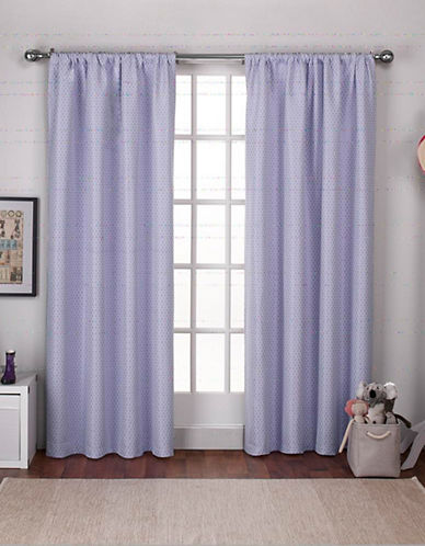 Home Outfitters Set of Two Polka Dot Curtain Panels-LILAC PURPLE-108 inches