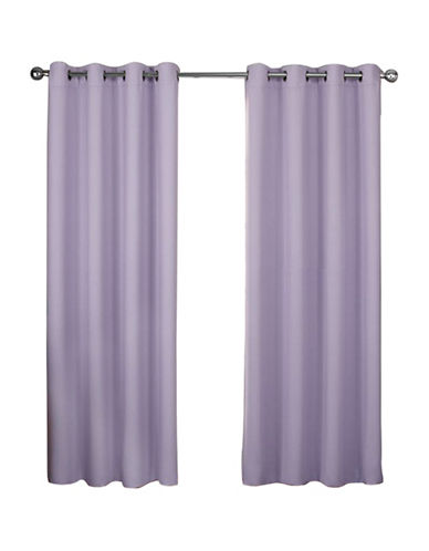 Home Outfitters Exclusive Home Textured Woven Blackout Grommet Top Window Curtain Panel Pair-LILAC PURPLE-108 inches