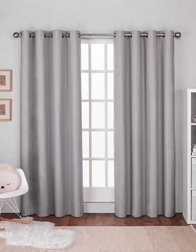 Home Outfitters Textured Linen Thermal Panel Pair-DOVE GREY-84 inches