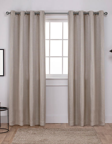Home Outfitters Set of Two Carling Curtain Panels-LINEN-96 inches