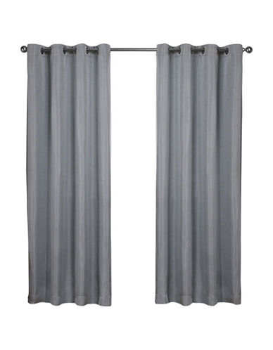 Home Outfitters Set of Two Carling Curtain Panels-AQUA-84 inches