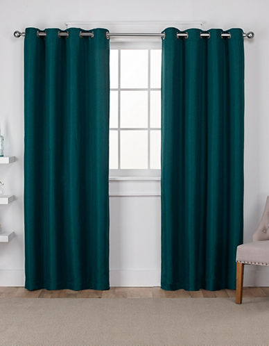 Home Outfitters Eglinton Large Window Curtain-TEAL-84 inches