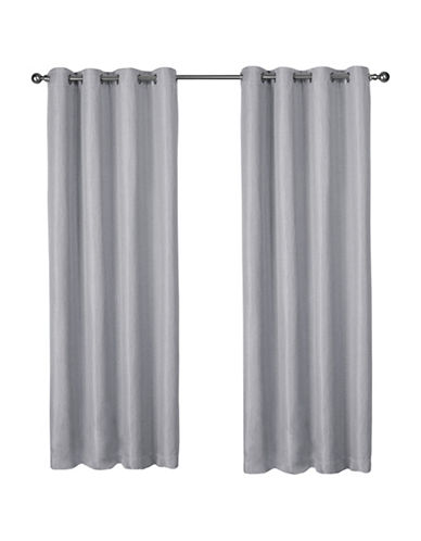 Home Outfitters Eglinton Large Window Curtain-DOVE GREY-84 inches