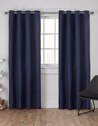 Home Outfitters Eglinton Large Window Curtain-INDIGO-108 inches