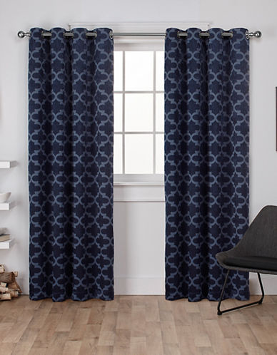 Home Outfitters Cartago Large Window Curtain-PEACOAT BLUE-108 inches