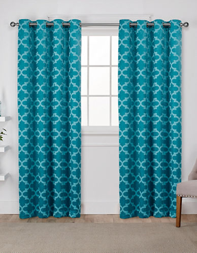 Home Outfitters Cartago Large Window Curtain-TEAL-96 inches