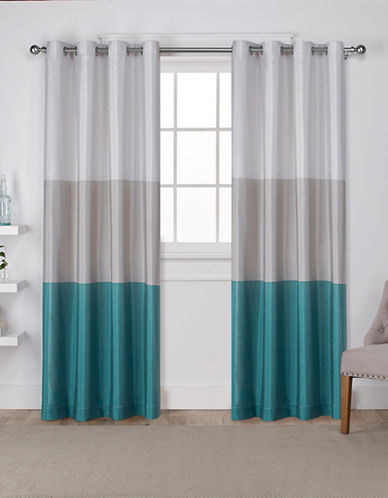 Home Outfitters Chateau Large Window Curtain-TEAL-84 inches