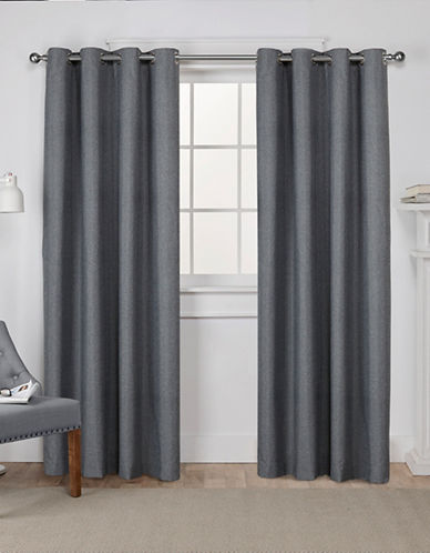 Home Outfitters London 108-Inch Curtain Panel-CHARCOAL-96 inches