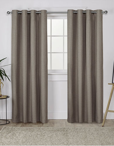Home Outfitters London 108-Inch Curtain Panel-CAFÉ-84 inches