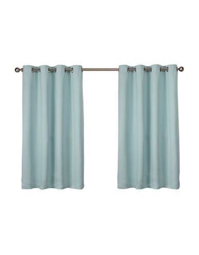 Home Outfitters Set of Two Twill Weave Curtain Panels-SEA FOAM-63 inches