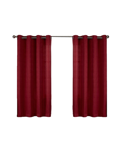 Home Outfitters Set of Two Virenze Curtain Panels-CHILI-63 inches