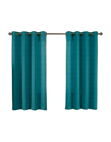 Home Outfitters Set of Two Virenze Curtain Panels-TEAL-63 inches
