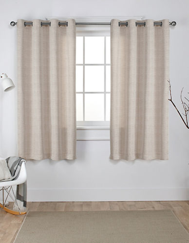 Home Outfitters Set of Two Virenze Curtain Panels-TAUPE-84 inches