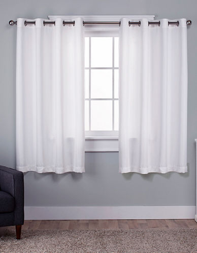 Home Outfitters Set of Two Virenze Curtain Panels-WINTER WHITE-84 inches
