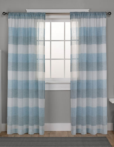 Home Outfitters Bern Rod Pocket Window Curtain Panel Pair-TEAL-84 inches