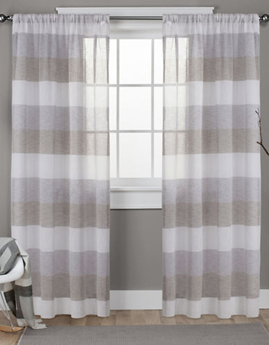 Home Outfitters Bern Rod Pocket Window Curtain Panel Pair-CAFÉ-108 inches