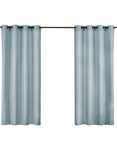 Home Outfitters Biscayne Indoor/Outdoor Panel Pair-POOL BLUE-96 inches
