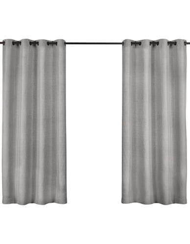 Home Outfitters Biscayne Indoor/Outdoor Panel Pair-SILVER-96 inches