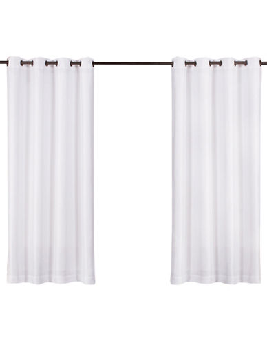 Home Outfitters Biscayne Indoor/Outdoor Panel Pair-WHITE-108 inches
