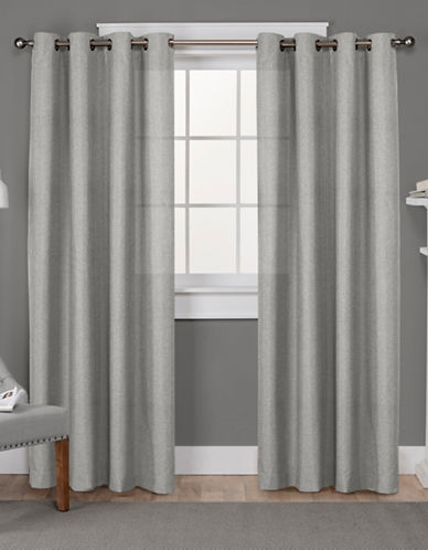 Home Outfitters Loha Linen Panel Pair-DOVE GREY-96 inches
