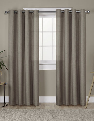 Home Outfitters Loha Linen Panel Pair-CAFÉ-96 inches