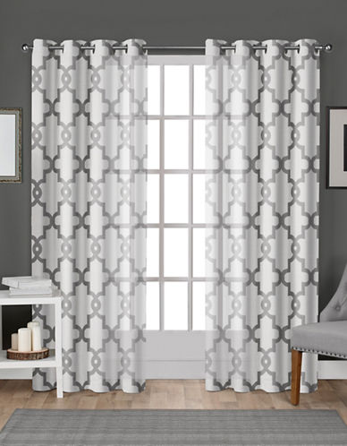 Home Outfitters Set Of Two Burnout Sheer Curtain Panels