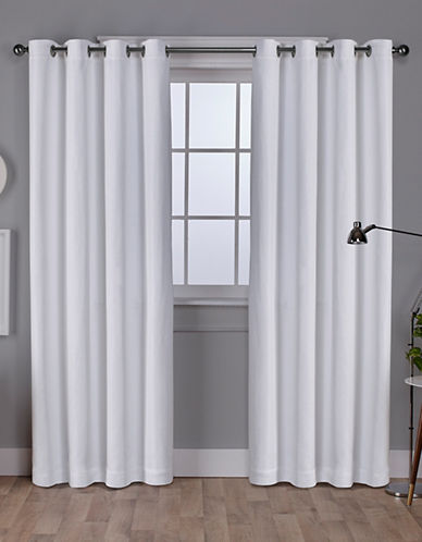 Home Outfitters Set of Two Vesta Curtain Panels-WINTER WHITE-108 inches