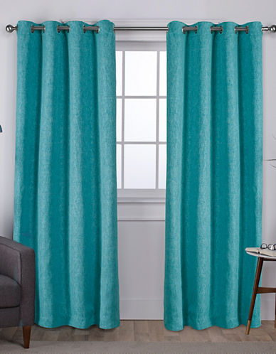 Home Outfitters Set of Two Vesta Curtain Panels-TEAL-96 inches
