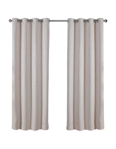 Home Outfitters Set of Two Vesta Curtain Panels-SAND-84 inches