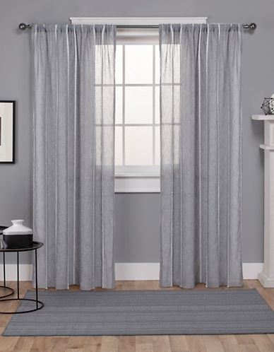 Home Outfitters Santos Textured Rod Pocket Panel Pair-DOVE GREY-84 inches