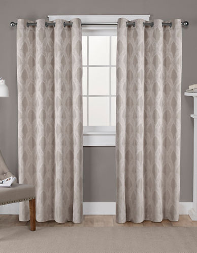 Home Outfitters Dorado Jacquard Curtain Panel Pair-NATURAL-96 inches