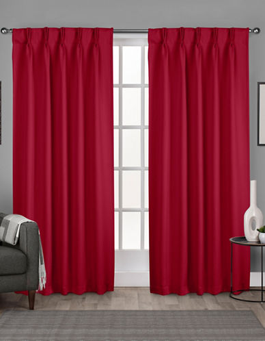 Home Outfitters Exclusive Sateen Pinch Curtain Panel Pair-CHILI-96 inches