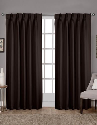 Home Outfitters Exclusive Sateen Pinch Curtain Panel Pair-ESPRESSO-84 inches
