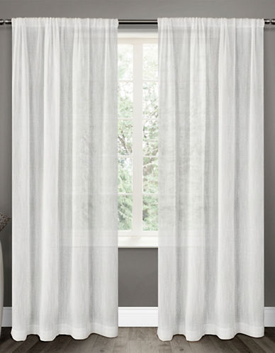 Distinctly Home 84-Inch Textured Perth Sheer Drape-WHITE-108 inches