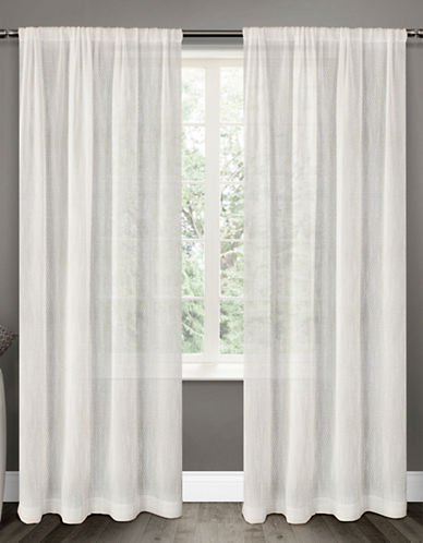 Distinctly Home 84-Inch Textured Perth Sheer Drape-OFF WHITE-96 inches