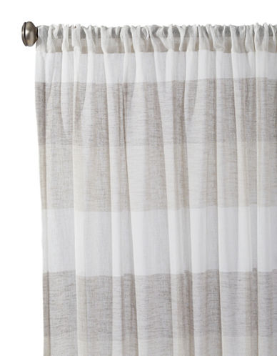Distinctly Home Bern Rod Pocket Drapery Panel-NATURAL-84 inches
