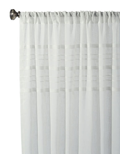 Distinctly Home Basel Rod Pocket Drapery Panel-SNOWFLAKE-84 inches