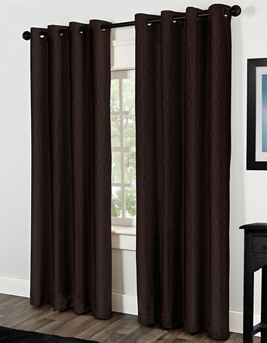 Home Studio Crete 84in Thermal Grommet Panel-CHOCOLATE-84 inches