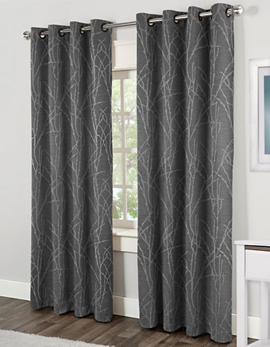 Home Outfitters Finesse Thermal Grommet Panel-ASH GREY-84 inches