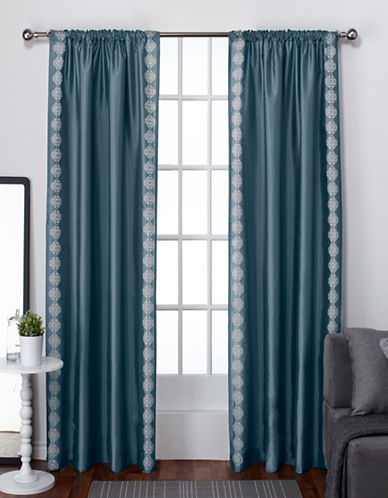 Home Outfitters Two-Pack Tiffany Back Tab Window Panels-MALLARD-84 inches